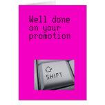Tarjeta de la promoción