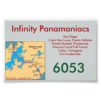 Tarjeta de la puerta de Panamaniacs del infinito Fotografía