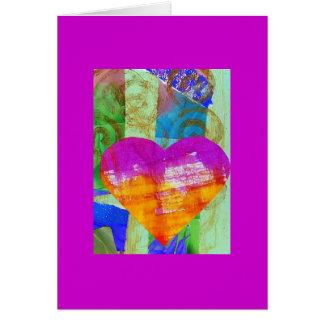 Tarjeta de la puerta del corazón