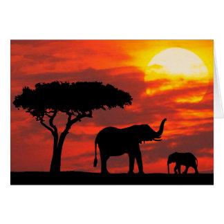 Tarjeta de la puesta del sol