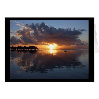 Tarjeta de la puesta del sol de Huahine