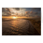 Tarjeta de la puesta del sol de la playa: Playa de