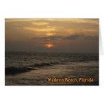 Tarjeta de la puesta del sol de Madeira