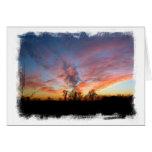Tarjeta de la puesta del sol de Mississippi