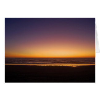 Tarjeta de la puesta del sol del Océano Pacífico