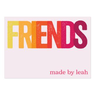 """Tarjeta de la pulsera de la amistad de los """"amigos tarjeta de visita"""