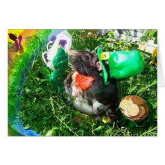 Tarjeta de la rata del día de St Patrick