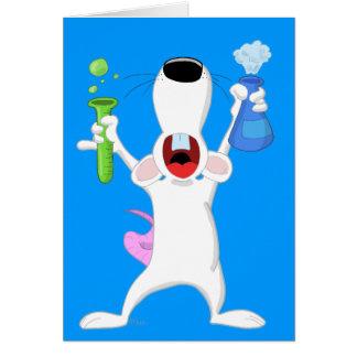 Tarjeta de la rata del laboratorio del tubo de ens
