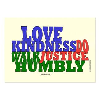 Tarjeta de la recepción de la amabilidad del amor tarjeta de visita