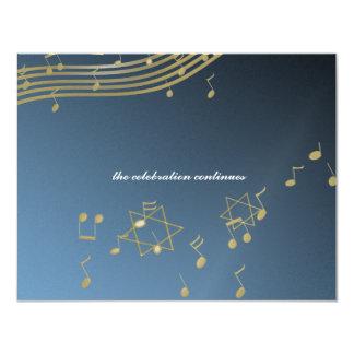 Tarjeta de la recepción de la barra Mitzvah/de la Comunicado