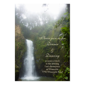 Tarjeta de la recepción de la cascada plantillas de tarjetas de visita