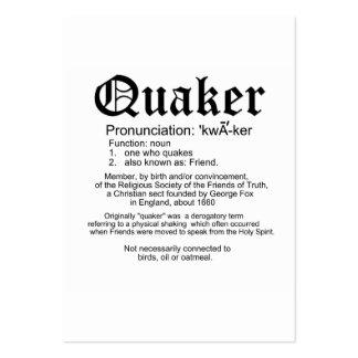 Tarjeta de la recepción de la definición del Quake