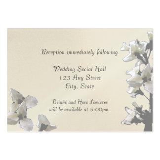 Tarjeta de la recepción de las flores de la tarjetas de visita grandes