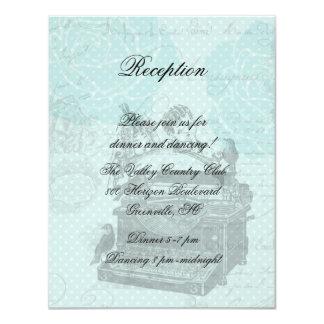 """Tarjeta de la recepción de las letras de amor del invitación 4.25"""" x 5.5"""""""