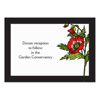 Tarjeta de la recepción del guión tarjeta personal