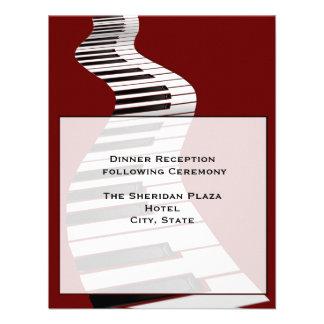 Tarjeta de la recepción del teclado invitación personalizada