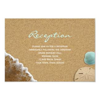 Tarjeta de la recepción Info de la arena y de la Invitación 8,9 X 12,7 Cm