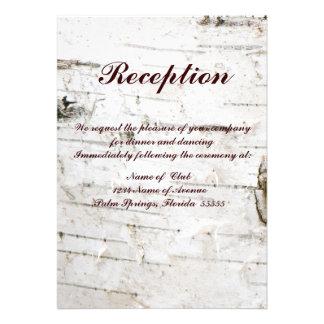 Tarjeta de la recepción