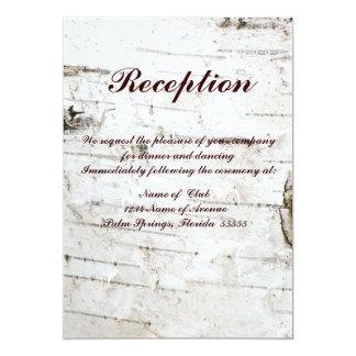 Tarjeta de la recepción invitación