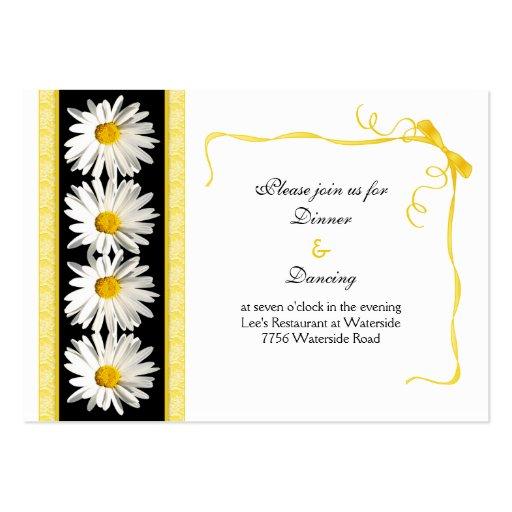 Tarjeta de la recepción nupcial de la margarita de tarjetas personales