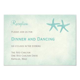 Tarjeta de la recepción nupcial de las estrellas invitación 8,9 x 12,7 cm