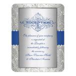 Tarjeta de la recepción nupcial del remolino del invitación 10,8 x 13,9 cm