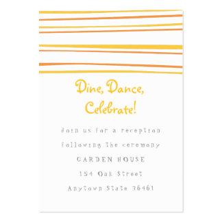 Tarjeta de la recepción o de información del tarjetas de visita grandes