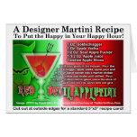 Tarjeta de la receta de Apple Martini Halloween de