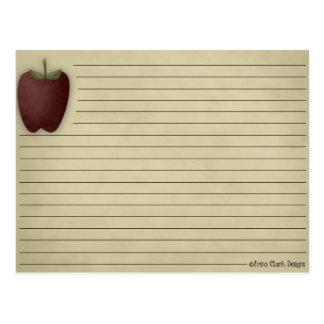 Tarjeta de la receta de Apple Tarjeta Postal