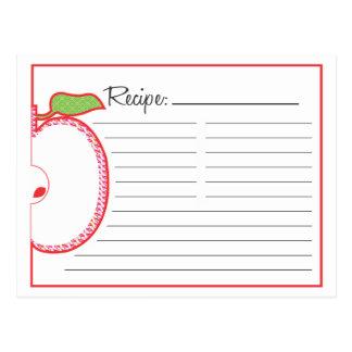 Tarjeta de la receta de Apple Tarjetas Postales