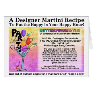 Tarjeta de la receta de Butterfinger-Tini Martini