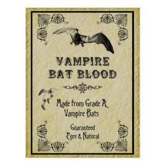 Tarjeta de la receta de Halloween de la sangre del Tarjetas Postales