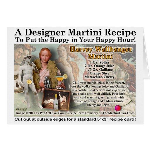 Tarjeta de la receta de Harvey Wallbanger Martini
