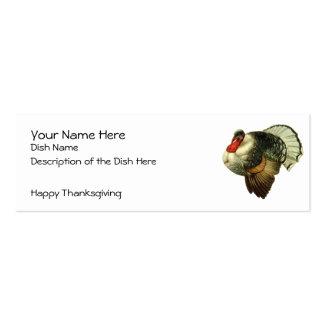 Tarjeta de la receta de la acción de gracias del tarjetas de visita mini