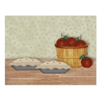 Tarjeta de la receta de la empanada de Apple de la Postal