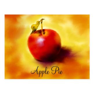 Tarjeta de la receta de la empanada de Apple Postal