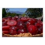 Tarjeta de la receta de la empanada de la cereza d