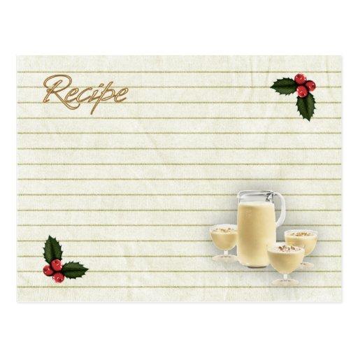 tarjeta de la receta de la yema tarjetas postales