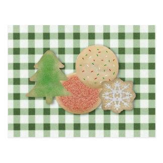 Tarjeta de la receta de las galletas del día de fi tarjetas postales