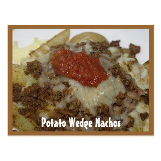 Tarjeta de la receta de los Nachos de la cuña de l Postal