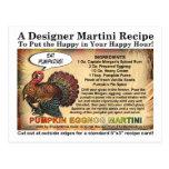 Tarjeta de la receta de Martini de la acción de Postal