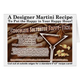Tarjeta de la receta de Martini del chicloso del a