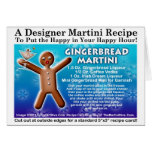 Tarjeta de la receta de Martini del pan de jengibr