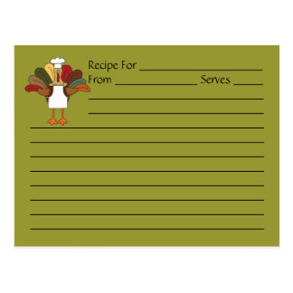 Tarjeta de la receta del cocinero de Tucker Tarjeta Postal