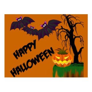 Tarjeta de la receta del feliz Halloween Postal