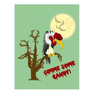 Tarjeta de la receta del halcón de Halloween Tarjetas Postales