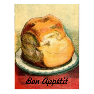 Tarjeta de la receta del pan de Appetit del Bon Tarjetas Postales