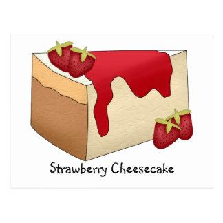 Tarjeta de la receta del pastel de queso de la postales
