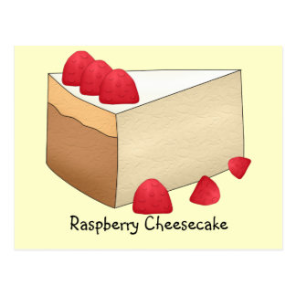 Tarjeta de la receta del pastel de queso de la tarjetas postales