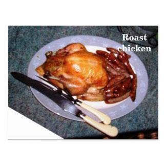 Tarjeta de la receta - pollo asado tarjetas postales